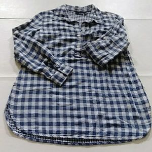 Ana Plaid Block Tunic Shirt no belt